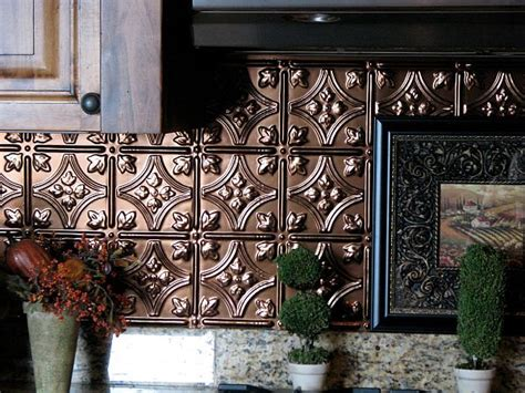 Tin Tiles For Kitchen Backsplash Adding Pressed Tin Into Your Home Decor