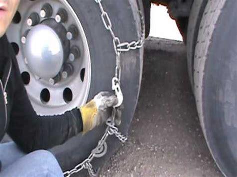 put chains   truck tire lancuchy na kola trucka youtube