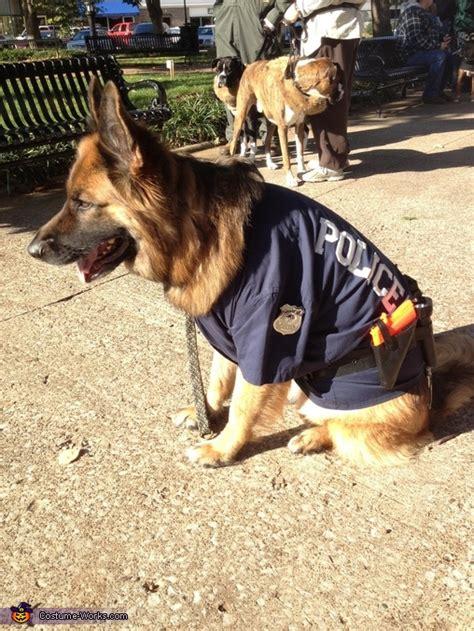 german shepherd police dog halloween costume photo