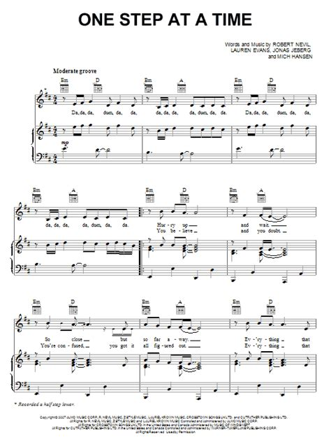 tattoo jordin sparks piano tutorial one step at a time sheet music direct