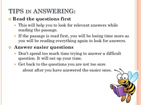 reading comprehension test taking strategies how to answer reading comprehension test