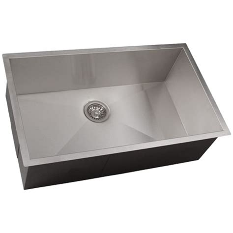 Undermount Stainless Steel Kitchen Sinks ticor s3510 undermount 16 stainless steel kitchen sink