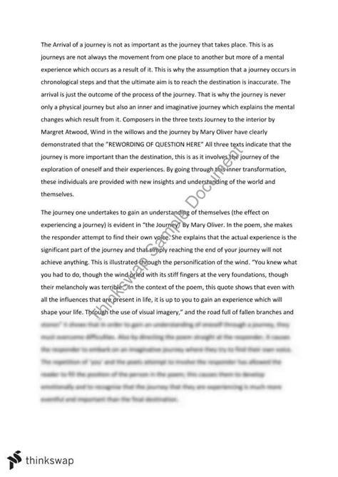 Is Journey Essay by Journey Essay The Arrival Of A Journey Is Not As Important As The Experience Year 11 Hsc