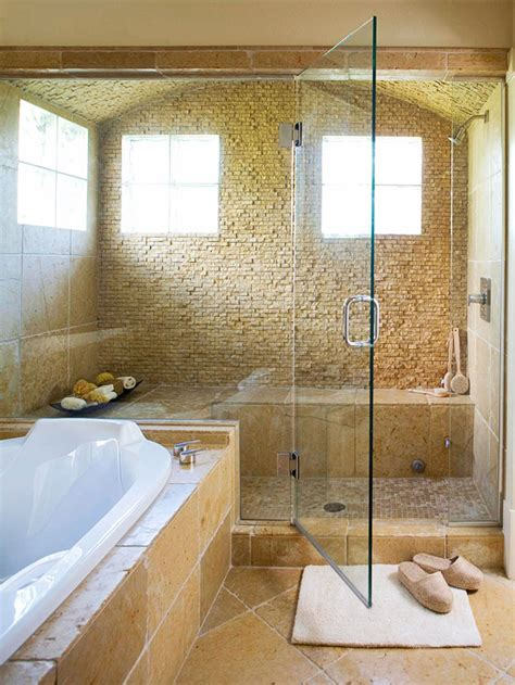 Big Tub With Shower Before And After Bathroom Renovations Glass Shower