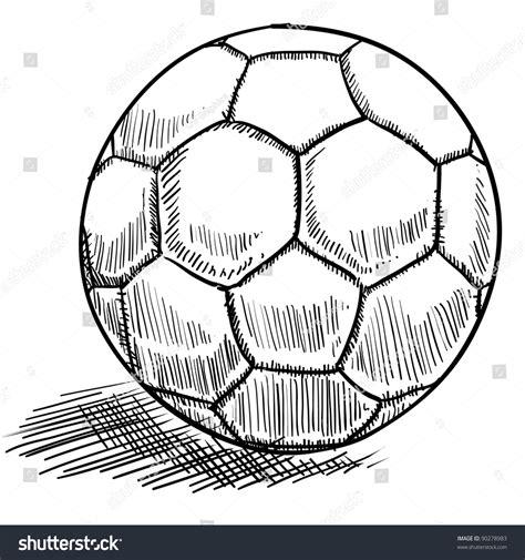 doodle tuesday football club doodle style soccer futbol vector illustration stock