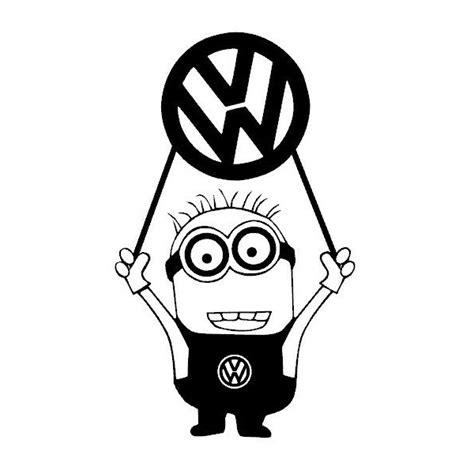 Volkswagen Logo Aufkleber by Stickers Minion Logo Vw Grafik Stick