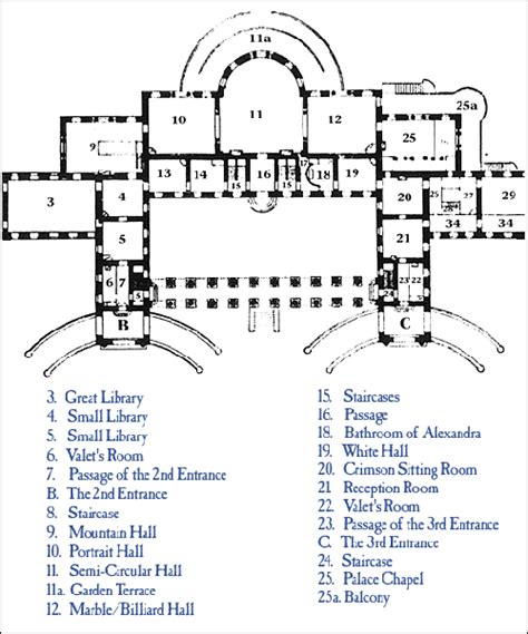 alexander palace floor plan floorplan of the parade halls blog alexander palace time machine