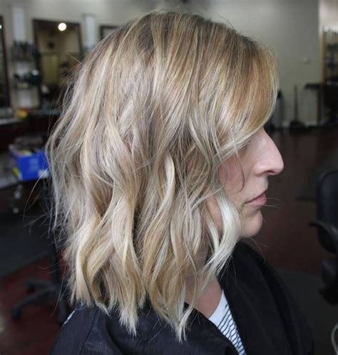 swing bob with side swept bangs 1000 ideas about wavy bob long on pinterest long to
