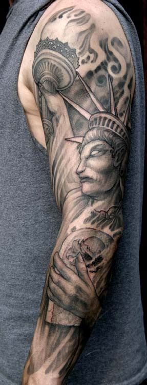 Statue Of Liberty Sleeve Tattoo By Paul Booth Tattoonow Statue Of Liberty Tattoos Pics