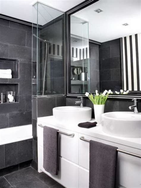 71 Cool Black And White Bathroom Design Ideas Digsdigs Small Black And White Bathrooms Ideas