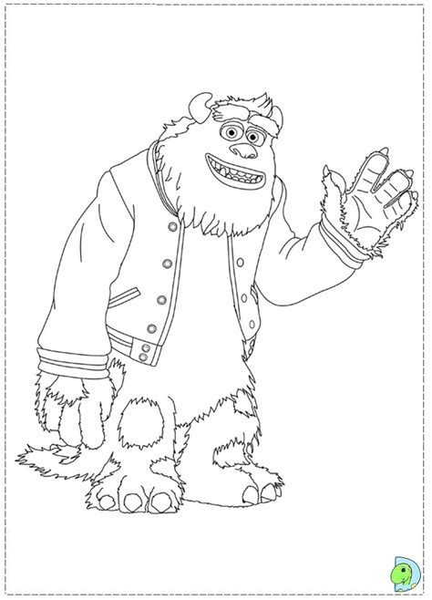 monsters university coloring pages bedtime monsters best
