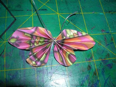 Folded Paper Butterfly Template - how to make an accordion butterfly with tutorial and