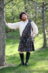 outlander ancient kilt poly viscose tartan