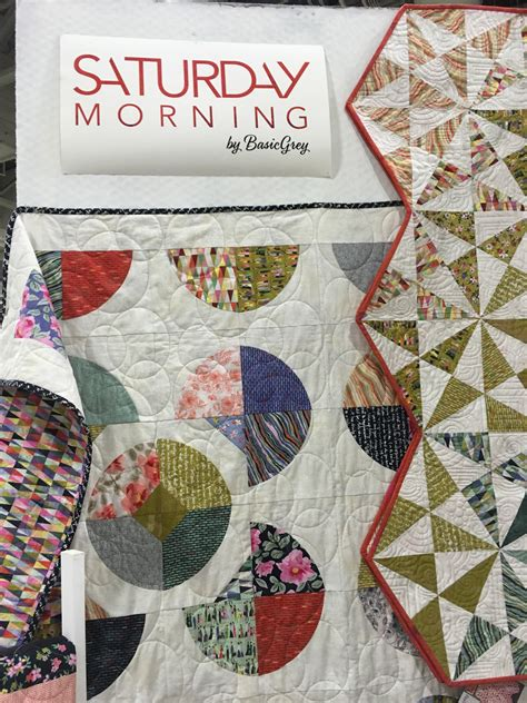 Morning Quilt by Saturday Morning Fabric Basic Grey Moda Stitches Quilting