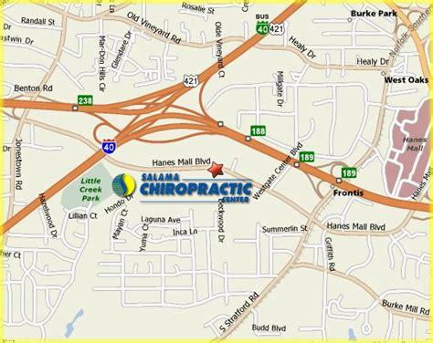 hanes mall map salama chiropractic center chiropractor winston salem carolina nc