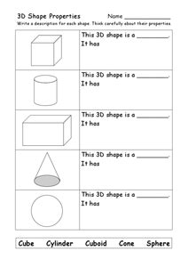 Identifying Faces Edges And Vertices Worksheet by 3d Shape Properties Faces Edges Corners 4th 5th Grade