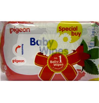 Pigeon Wipes Chamomile Refill 70s baby toiletries nhg pharmacy