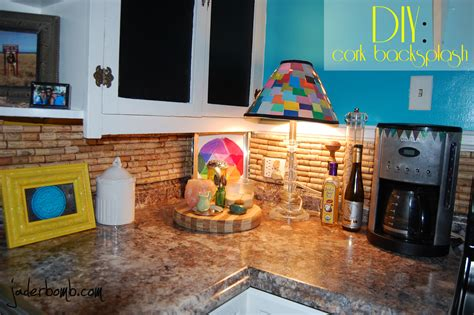 how to make a cork backsplash for your kitchen tutorial