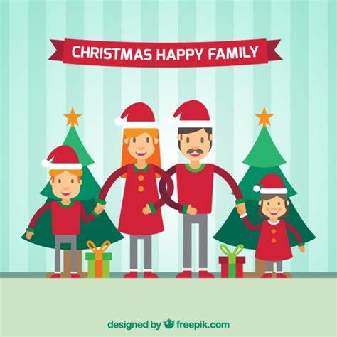 imagenes de la familia unida en navidad fondo de familia unida con gorros de navidad descargar