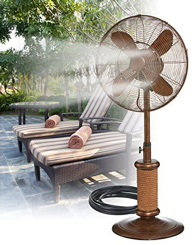 outdoor pedestal misting fans indoor outdoor misting floor standing pedestal 18 fan