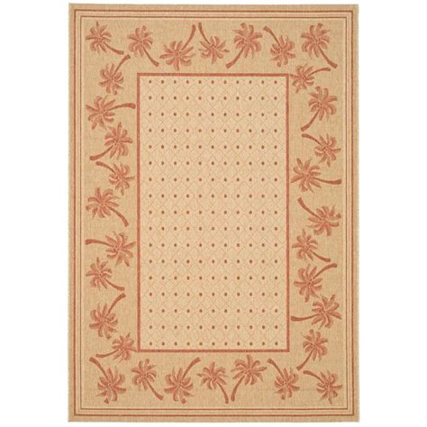 safavieh cy5146a courtyard indoor outdoor area rug rust lowe s canada safavieh courtyard ivory rust 4 ft x 5 ft 7 in indoor outdoor area rug cy5148j 4 the home depot