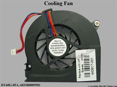 Fan Laptop Compaq hp compaq 6510b series cooling fan 443917 001 hy60g 05a
