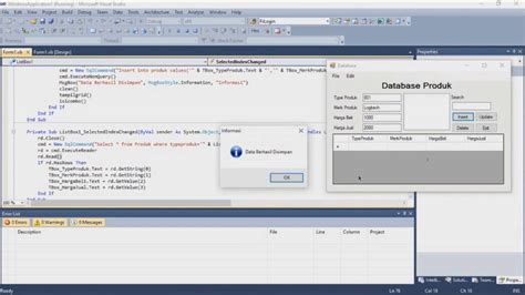 tutorial visual studio 2010 youtube tutorial membuat software penjualan visual studio 2010