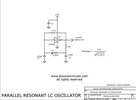 parallel resonant inductor cmos inverter parallel lc oscillator oscillator circuit signal processing circuit diagram