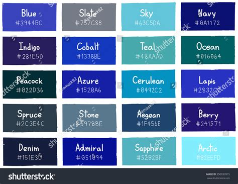 tone on tone color blue tone color shade background code stock vector