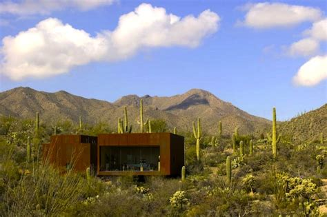 desert nomad house arizona s rusted steel desert nomad house is surrounded by