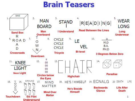le vel brain teaser ppt brain teasers powerpoint presentation id 467674