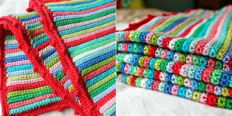 Decor Home Ideas Best skinny stripe crochet blanket free pattern stylesidea