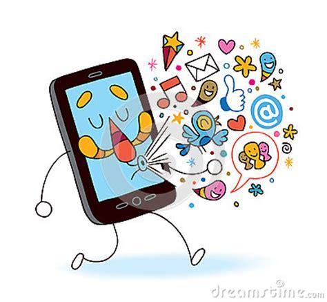 cartoon themes cell phone cartoon mobile phone stock photo image 29264870