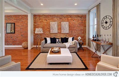 brick wall accents   living room designs brick