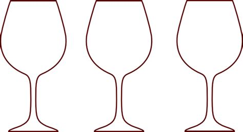 wine glass template wine glass silhouettes clip at clker vector clip