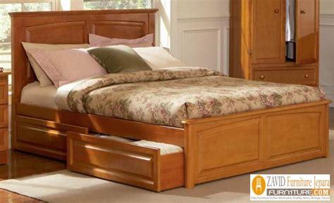 jual tempat tidur laci kayu jati murah minimalis jual