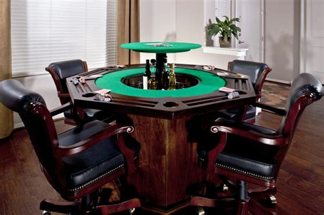 Plants In Vases Poker Table Bar Traditional Family Room Phoenix By