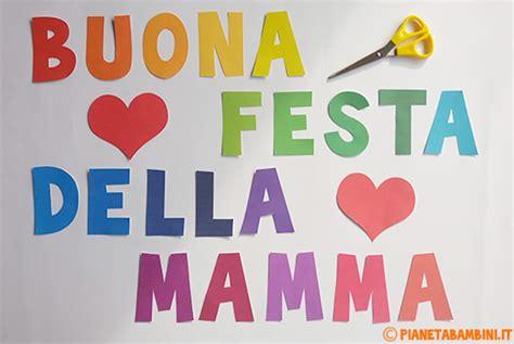 lettere sulla mamma mini striscione quot buona festa della mamma quot da stare