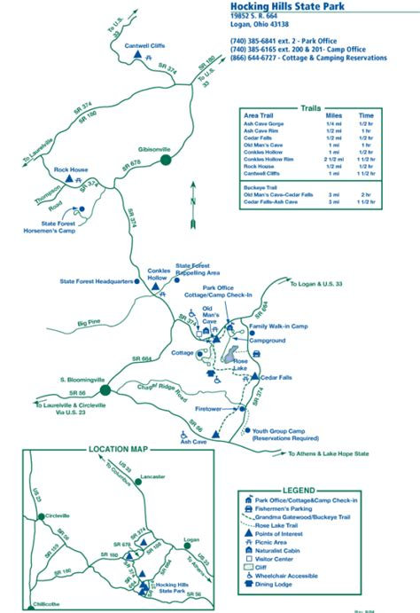 Hocking Hills Ohio Map by Where To Hike In Hocking Hills State Park Old Man S Cave