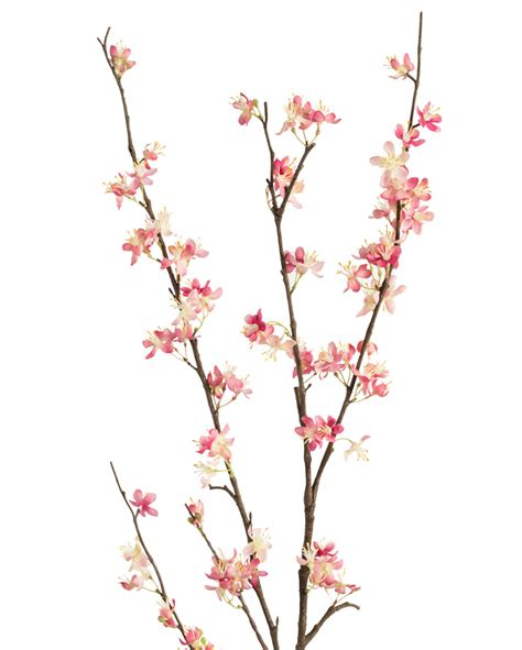 Fishbowl Vases Cherry Blossom Silk Flower Stems For Casual Decorating At