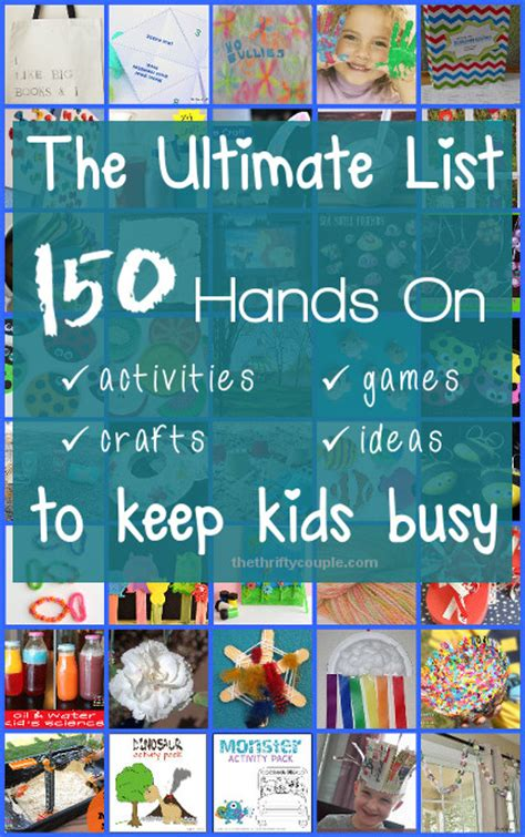 crafts to keep busy ultimate list of for 150 on activities