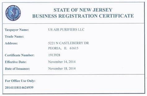Company Registered Address Search Nj Business Registration Certificate Nj Business Registration Certificate How To
