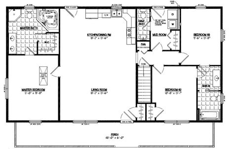Certified Homes Musketeer Certified Home Floor Plans 26 X 48 House Plans
