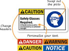 safety sign templates add your own wear hearing and eye protection message here