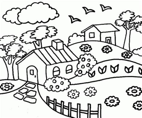 imagenes para pintar un paisaje dibujos de paisajes rurales para colorear colorear im 225 genes