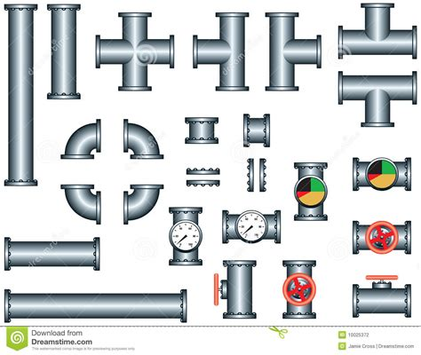 Plumbing Pieces by Plumbing Pipe Construction Set Stock Photography Image
