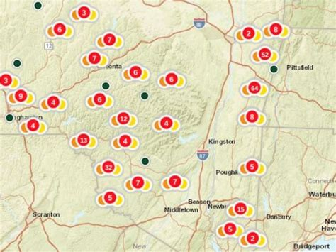 nyseg power outage map nyseg working on outages in putnam southeast ny patch