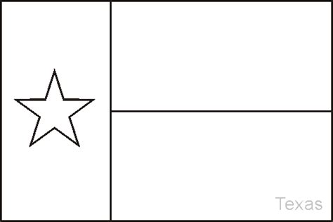 texas state flag coloring pages usa for kids
