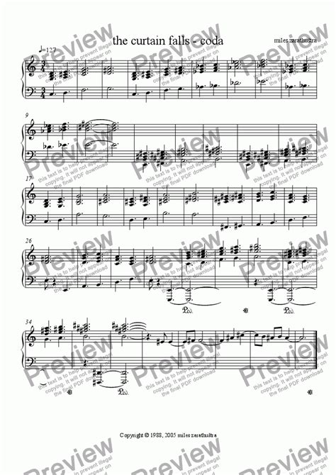 the curtain falls sheet music the curtain falls coda