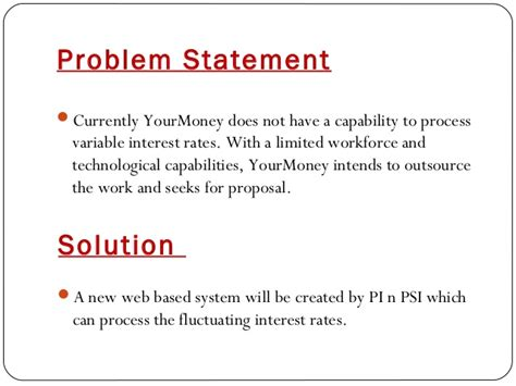 business problem statement template business it project